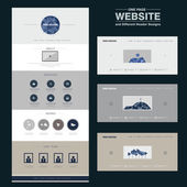 Elegant one page website design template — Stock Vector