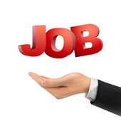 3d hand holding job words  — Stockvektor