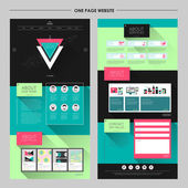 Geometric style one page website template  — Stockvector