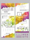 Modern one page website template design — Stockvector