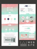 Creative one page website template design  — Stockvector