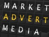 Market advert media words — Stock Vector