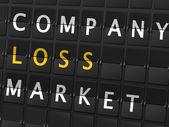Company loss market words — Stock Vector
