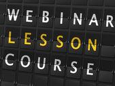 Webinar lesson course words — Stockvektor