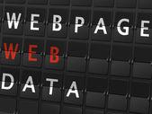 Webpage web data words — Stock Vector