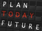 Plan today future words — Stock Vector