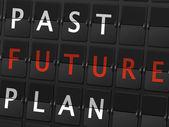Past future plan words — Stock Vector