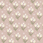 Retro tulips seamless pattern background  — Vetorial Stock