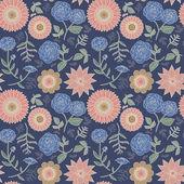 Padrão sem emenda floral elegante — Vetor de Stock