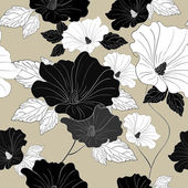 Graceful seamless floral pattern  — Stock Vector