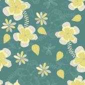 Lovely flowers seamless background — Stock Vector