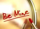 Be mine words written — Stock Vector
