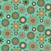 Ornate colorful seamless floral pattern — Stock Vector