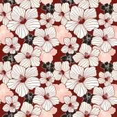 Simplicity hibiscus seamless pattern — Stock Vector