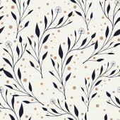 Elegante nahtlose Muster mit Laub — Stockvektor