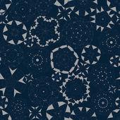 Elegant geometric floral seamless pattern  — Cтоковый вектор