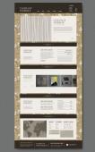 Изящные дизайн одной страницы веб-сайта с цветочный фон — Cтоковый вектор