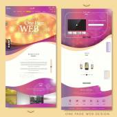 Blurred trendy one page website design template  — Wektor stockowy