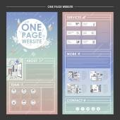 Trendy one page website design template  — Wektor stockowy