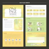 Modny jednej stronie internetowej szablon projektu — Wektor stockowy