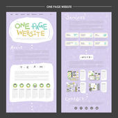 Lovable one page website design template — Stock Vector