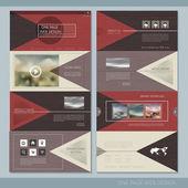 Elegant one page website design template  — Stockvektor