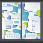Creative one page website design template  — Vettoriale Stock