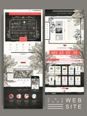 Graceful one page website design template  — Wektor stockowy