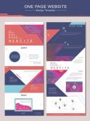 Trendy one page website design template — Stock Vector