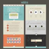 Очаровательны шаблон дизайн одной страницы веб-сайта — Cтоковый вектор