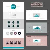 Concise one page website design template — Stock Vector
