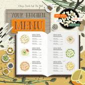 Lovely kitchen menu — Stock Vector