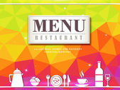 Modern restaurant menu design — Stock Vector