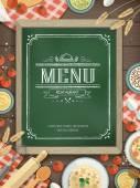 Lovely restaurant menu — Stock Vector