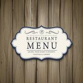 Elegant wooden style restaurant menu design — Stock Vector