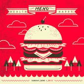 Attractive fast food restaurant menu design — Stock Vector