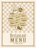 Retro restaurant menu design — Stock Vector