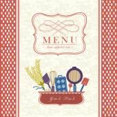 Lovely restaurant menu design — Stock Vector