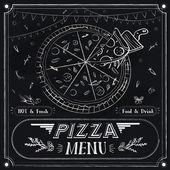 Creative pizza menu design — Stock Vector
