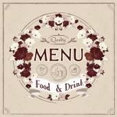 Graceful restaurant menu design — Stock Vector