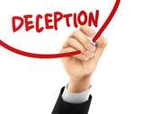 Deception written by 3d hand  — Stock Vector