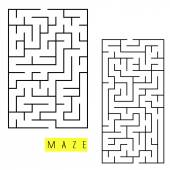 Square labyrinth set  — Stock Vector