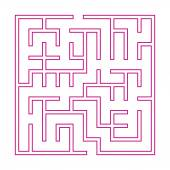 Modern pink square maze — Stock Vector