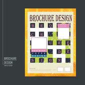 Retro brochure template design — Stock Vector