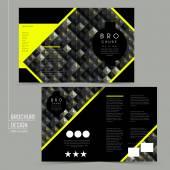 Luxurious half-fold brochure template design — Stock vektor