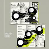 Attractive tri-fold brochure design — Stock Vector