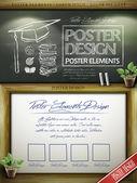 Образовательные концепции плакат шаблон дизайна — Cтоковый вектор