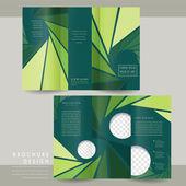 Charming tri-fold brochure template design — Stock Vector