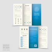 Simplicity tri-fold brochure template design — Stock Vector