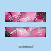 Fashionable banner template design — Stock Vector
